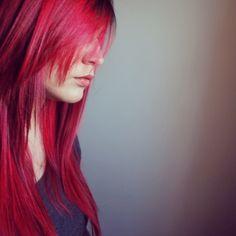 My freshly cut hair + Manic Panic Vampire Red = LOVE. #manicpanic #vampirered