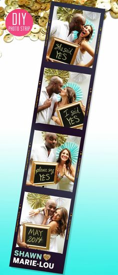 { DIY: save the date photo strip } | The Sweet Escape #wedding