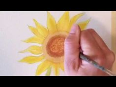 How to draw and paint a Watercolor Sunflower - YouTube