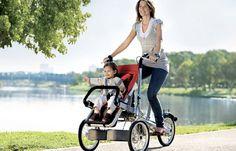 Carrito y bicicleta