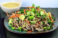 Cold Soba Noodles With White Miso Dressing #vegan #glutenFree #kosher #edamame #miso #sesame