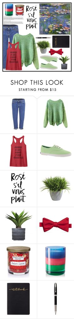 """25.02.16 Claude Monet's ""Water lilies"""" by anaskey ❤ liked on Polyvore featuring Levi's, Keds, Ethan Allen, Laura Ashley, Saddlebred, Yankee Candle, Byredo and Parker"