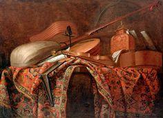 Evaristo Baschenis - Stilleben mit Musikinstrumenten