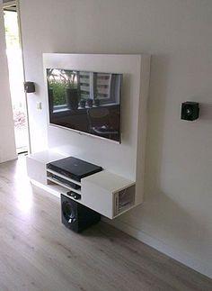 Floating Tv cabinet, DIY by Joost. | TV kast zelf maken: zwevend tv-meubel 'Penelope' door Joost