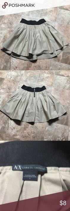 Armani exchange skirt Size for zipping back. Elastic waist 24 inches - length 17. Armani Exchange Skirts