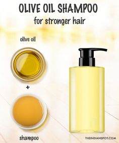 Olive oil shampoo – for stronger hair  Adding olive oil to your shampoo will leave your hair silky soft. Add olive oil to your favorite shampoo for an instant boost to your hair care routine. To 1 cup of mild natural shampoo, add 1 tablespoon of olive oil for normal hair and 1/2 tablespoon for oily …
