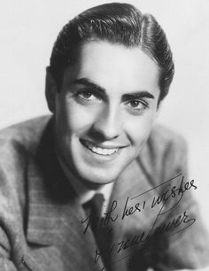 Tyrone Power, 1936...actors today just to not match the handsomeness of actors from the 30s, 40s and 50s!