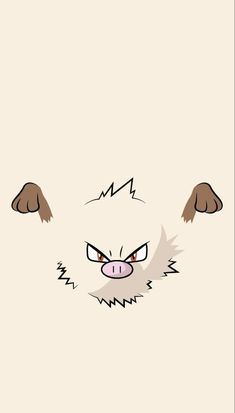 When Mankey starts shaking and its nasal breathing turns rough, it's a sure sign that it is becoming angry. However, because it goes into a towering rage almost instantly, it is impossible for anyone to flee its wrath. Pokemon Go, Pokemon Faces, Pokemon Sketch, Go Wallpaper, Disney Wallpaper, Cartoon Wallpaper, Animes Wallpapers, Cute Wallpapers, Pokemon Lock Screen