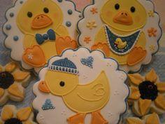 Duck Baby Shower Cookies Duck Cookies, Baby Cookies, Baby Shower Cookies, Sugar Cookies, Baby Shower Sweets, Baby Shower Gifts, Baby Shower Duck, Baby Showers, Cooking Cookies