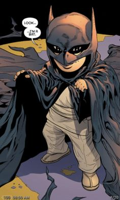 Batman and Robin III - Damian Wayne as a child raised by assassins and his mother, Talia Al Ghul. This line almost made me cry.