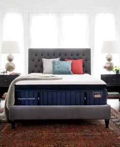 Stearns & Foster Reserve Hepburn 16 Luxury Plush Euro Pillow Top Mattress Set - Twin Xl Enjoy a sleep unlike that you have ever experienced before on Stearns & Foster's Reserve Hepburn 16 Mattress Sets, Pillow Top Mattress, Queen Mattress, Bed Base, Sleep Set, Adjustable Beds, California King, The Fosters, Upholstery