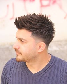 Spiked With Taper Fade , Turkish Man haircuts