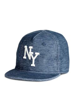 Cap with a motif - Denim blue/New York - Kids | H&M GB 1