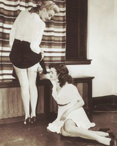 Drawn/painted on nylon stockings became a great fashion when nylon was used for the war effort, 1942
