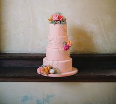 Pretty tiered wedding cake