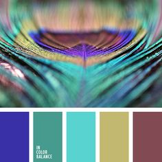 Variegation peacock feather and brightness palette will bring pleasure from the explosion of color. A purple decorate their uniqueness and mysticism. This palette is perfect for a nursery or bathroom. It combines five of the most explosive and trendy colors that give beauty and diversity of saturation.