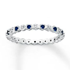 Stackable sapphire and diamond ring. I want different ones for my right hand. One for each of my boys.