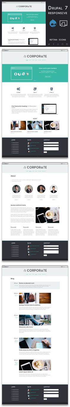 Corporate - Drupal 7 Business Theme. Drupal Themes. $40.00