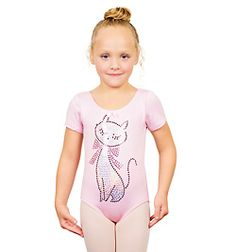 Child Short Sleeve Kitty Leotard - Style No K5060