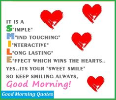Good morning sweetheart You do have a beautiful smile I miss seeing it so much...I love you so very much...❤️❤️...@