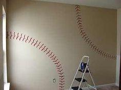 Boys baseball room