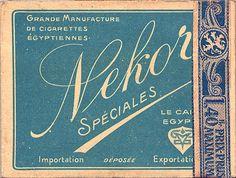 Nekor Spéciales cigarettes Belgium 1928