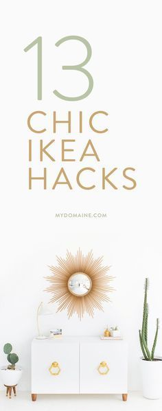 Transform your favorite IKEA products into innovative pieces - A Interior Design Do It Yourself Regal, Do It Yourself Ikea, Diy Interior, Ikea Furniture, Furniture Makeover, Diy Décoration, Diy Crafts, First Apartment, Vintage Shabby Chic