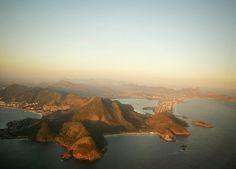 Taking off from Santos Dumont airport in Rio de Janeiro
