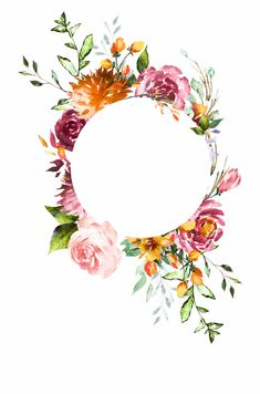 Discover recipes, home ideas, style inspiration and other ideas to try. Watercolor Flowers Tutorial, Floral Watercolor, Watercolor Background, Flowers Free Download, Clip Art Library, Flower Frame Png, Wedding Frames, Floral Border, Flower Backgrounds