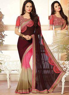 Multi Colored Wedding Wear Indian Saree  Visit: http://www.indiansareestore.com/sarees/designer-sarees
