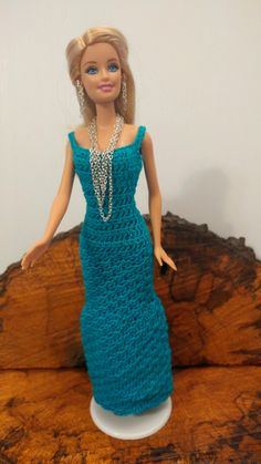 Doll Barbie Turquoise Evening Dress