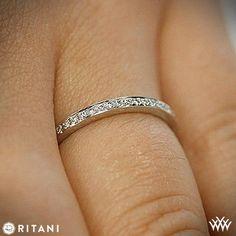 18k White Gold Ritani 31694 Endless Love Diamond Wedding Ring