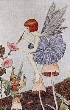 Ida Rentoul Outhwaite (1888-1960):  'When Fairies come out'