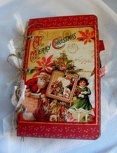Christmas Past Mini Album, Graphic 45, Envelope Mini Album
