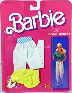 Barbie B Active Fashions #2186 New Never Removed from Pack 1985 Mattel, Inc. 3+
