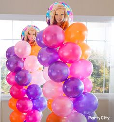 A balloon tower turns any celebration into the best party on the block! Get the how-to for this stylish balloon decoration using bright and fun balloons from Party City.