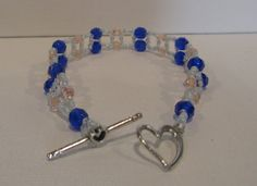 Crystal Bracelet: Hearts Believe  Bracelet by MCBDdesigns on Etsy