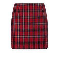 Red Tartan Check Skirt | New Look