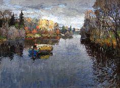 Konstantin Gorbatov autumn landscape.  1900