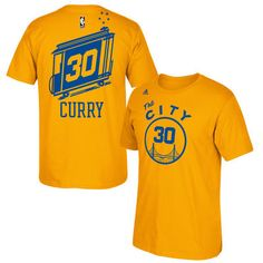 Stephen Curry Golden State Warriors adidas Hardwood Classics Name & Number T-Shirt - Gold