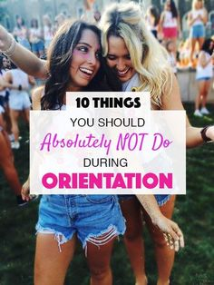 These are the things you should absolutely NEVER do during orientation! These are the things you should absolutely NEVER do during orientation! College Dorm Checklist, College Freshman Tips, College Life Hacks, College Essentials, College Campus, Freshman Year, College Football, Espn College, Boston College