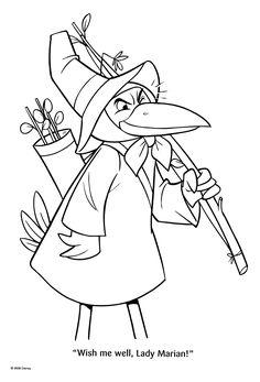 disney robin hood coloring pages skippy | Robin Hood Printable Coloring Pages - Disney Kids Games ...