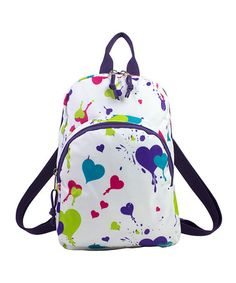 Look what I found on #zulily! Heart Splatter Triple Pocket Backpack #zulilyfinds