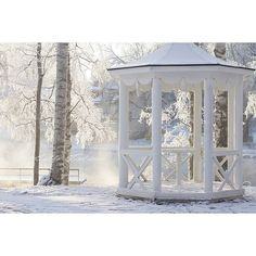 Winter in Finland Finland, Gazebo, Outdoor Structures, Snow, Beautiful, Eggs, Kiosk, Cabana, Eyes