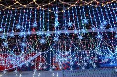 LED curtain light Welcome Holidays, Winter Holidays, Led Curtain Lights, Wedding Places, Christmas Lights, Tea Lights, Curtains, Holiday Ideas, Wedding Reception Venues