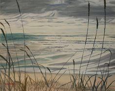 Title:  Oregon Coast With Sea Grass  Artist:  Ian Donley  Medium:  Painting - Oil On Canvas
