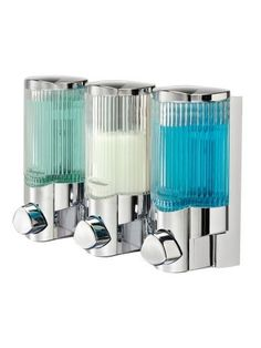 Better Living Products Signature Dispenser III, Three Chamber Shower Dispenser with Ribbed Bottle, Chrome by Better Living, http://www.amazon.com/dp/B001CD3VB4/ref=cm_sw_r_pi_dp_Y9U.qb14F1A4S