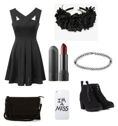 """""""Black casual"""" by mommysaracaley on Polyvore"""