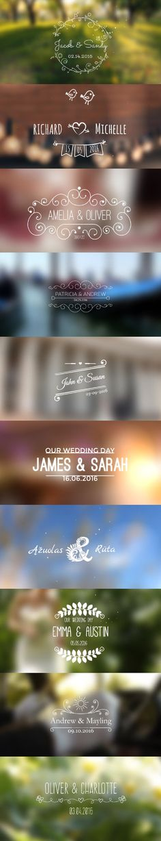 Wedding Titles  After Effects Template - Download template here : http://videohive.net/item/wedding-titles/13233377?ref=pxcr