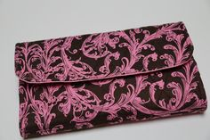Quilted Ladies Floral Trifold Wallet in Pink and by WootsieTootsie, $33.50